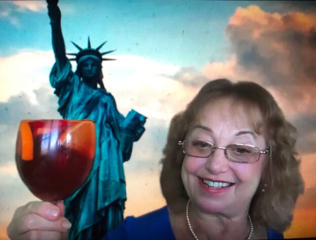 Dr. Sue and Statue of Liberty
